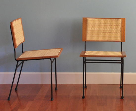 The completed Dorothy Schindele chairs