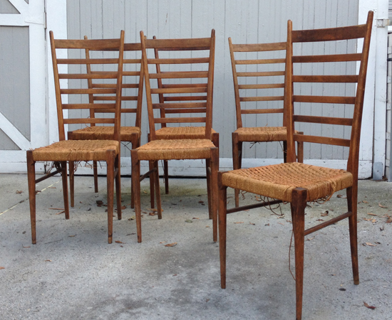 Gio Ponti Set Before Restoration