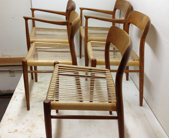 Moller Chairs in Progress