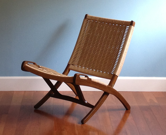 The restored chair